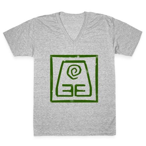 Earth Bender V-Neck Tee Shirt