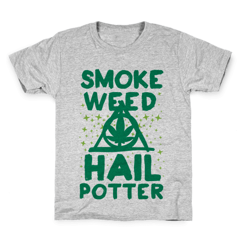 Smoke Weed Hail Potter Kids T-Shirt