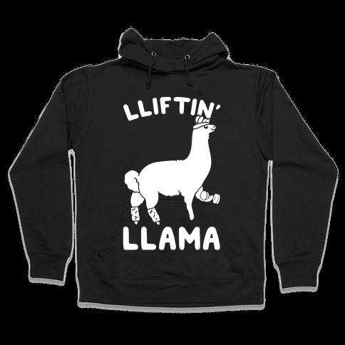 Lifting Llama Hooded Sweatshirt