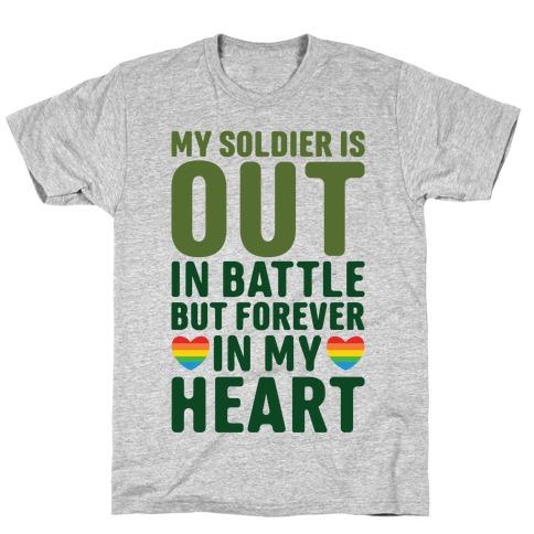 Out Soldier Mens/Unisex T-Shirt