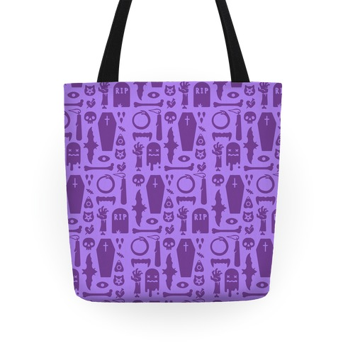 Simple Halloween Pattern Tote