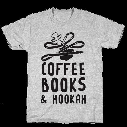 Coffee, Books & Hookah Mens T-Shirt