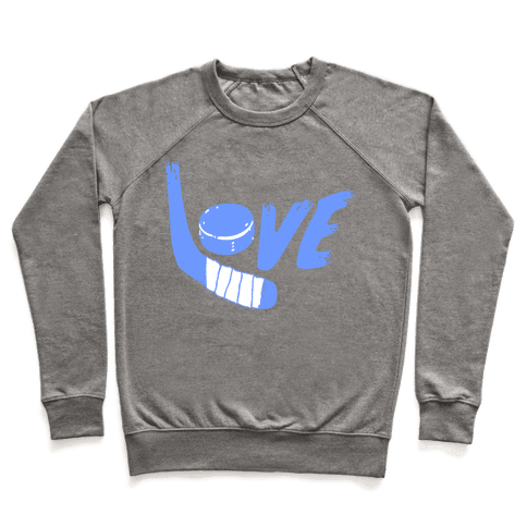 Love Hockey (Blue Letters)  Pullover