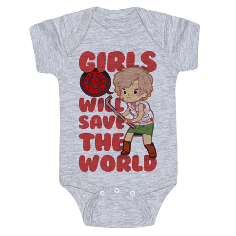 Girls Will Save The World Baby Onesy