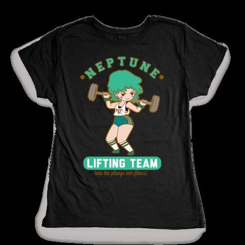 Neptune Lifting Team Parody Womens T-Shirt