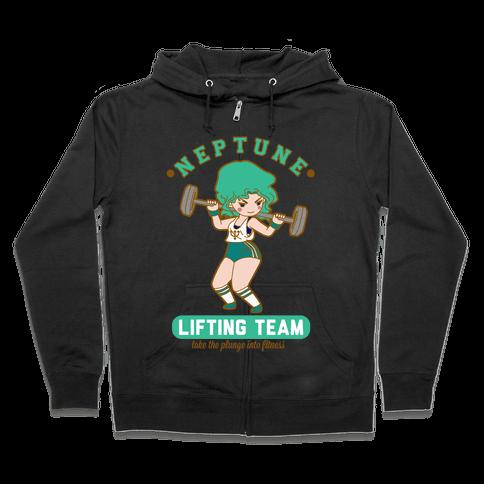 Neptune Lifting Team Parody Zip Hoodie