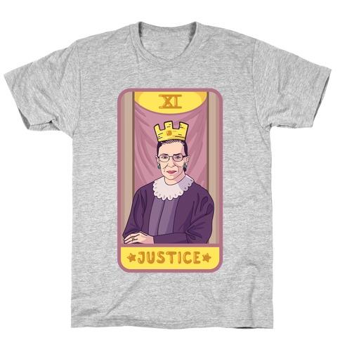 6ce7cec4 Ruth Bader Ginsburg Justice Tarot T-Shirt
