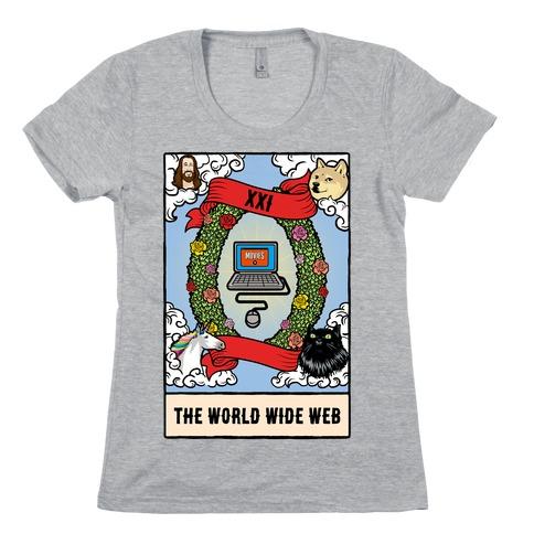 The World (Wide Web) Tarot Card Womens T-Shirt