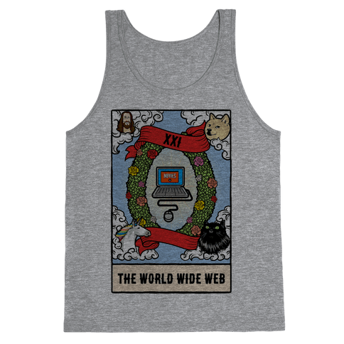 The World (Wide Web) Tarot Card Tank Top