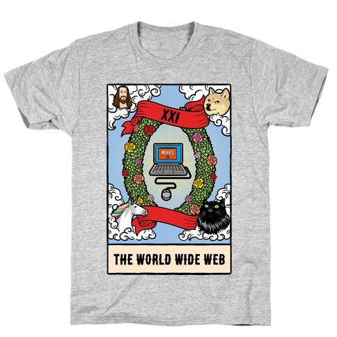 The World (Wide Web) Tarot Card T-Shirt