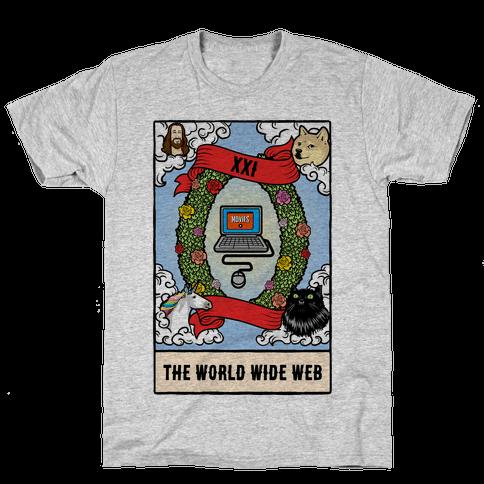 The World (Wide Web) Tarot Card Mens T-Shirt