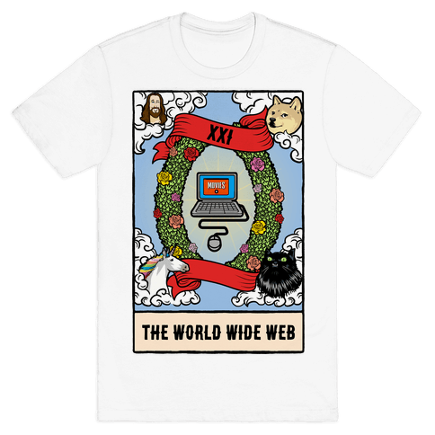 The World (Wide Web) Tarot Card Mens T-Shirt