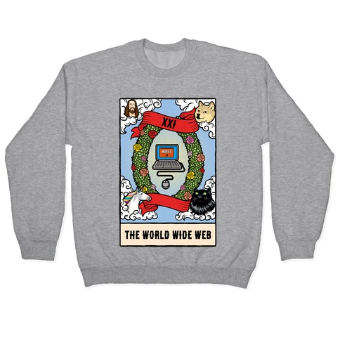 The World (Wide Web) Tarot Card Pullover