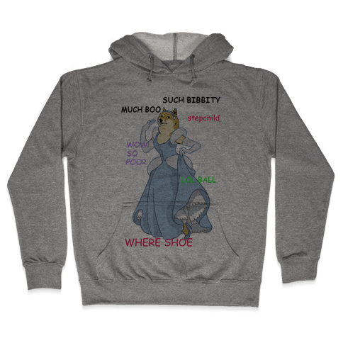 Cinderella Doge Hooded Sweatshirt