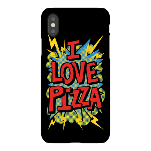 I Love Pizza Pop Art Phone Case