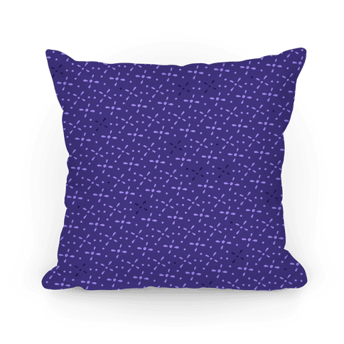 Violet Abstract Floral Pattern Pillow