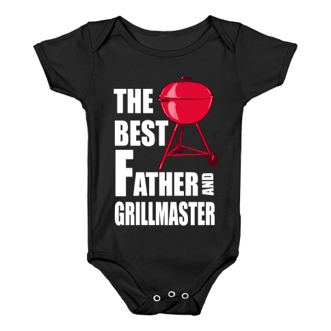 The Best Father and Grillmaster Baby Onesy