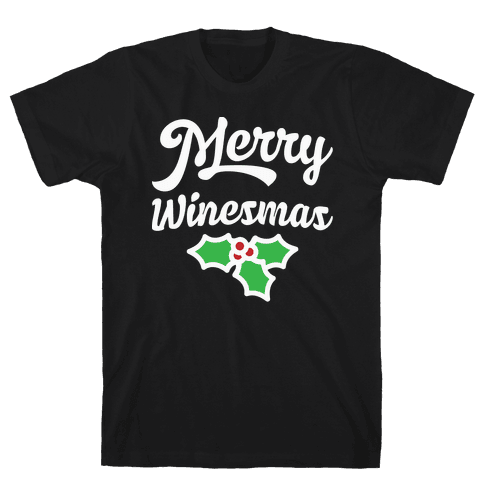 Merry Winesmas Mens T-Shirt