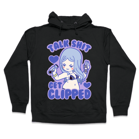 Talk Shit Get Clipped Johnny Cutter Parody Hooded Sweatshirt