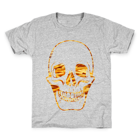French Fry Skull Kids T-Shirt