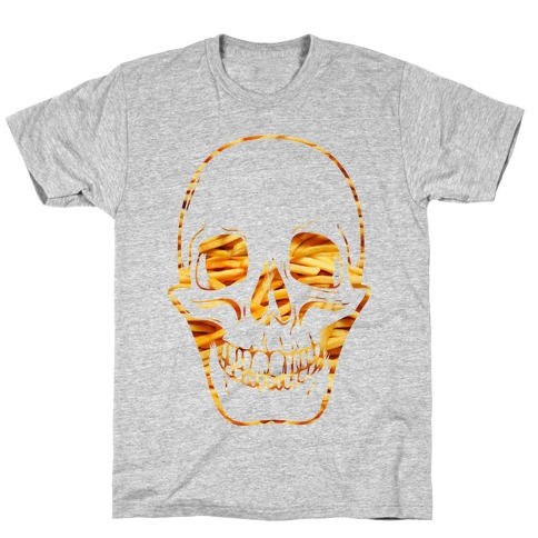 French Fry Skull T-Shirt
