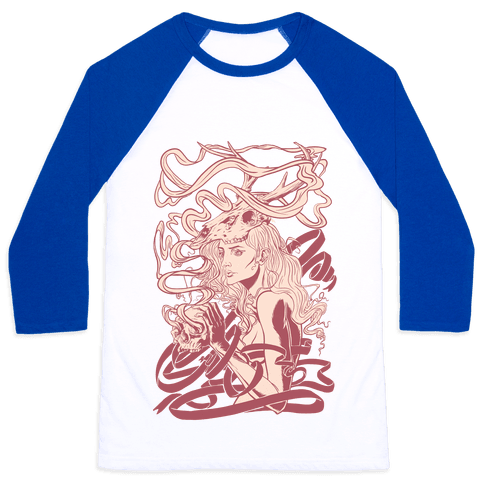 Skull Witch Baseball Tee