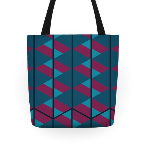 Triangle Pattern Tote (Dark) Tote