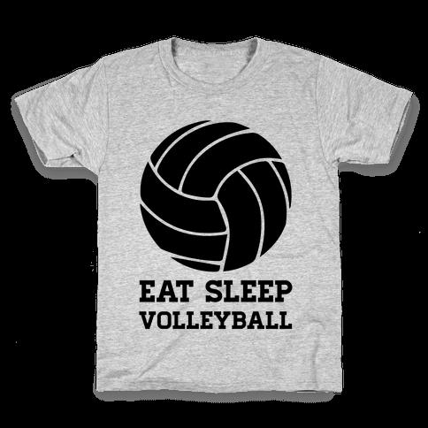 Eat Sleep Volleyball Kids T-Shirt