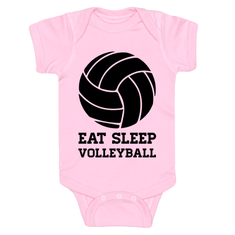Eat Sleep Volleyball Baby Onesy