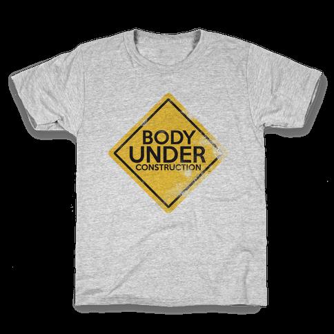 Body Under Construction tank Kids T-Shirt