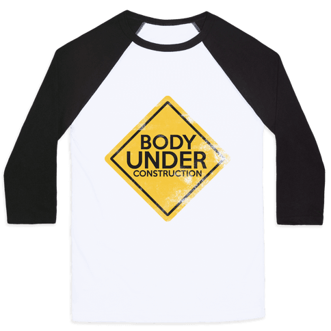 Body Under Construction tank Baseball Tee
