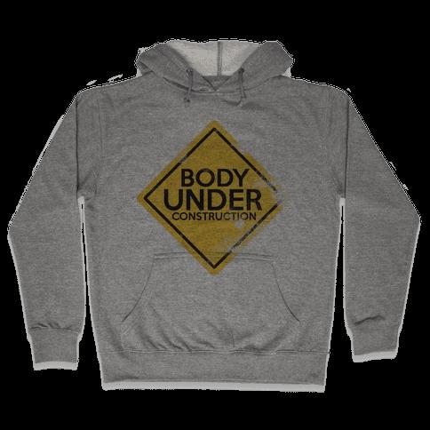 Body Under Construction tank Hooded Sweatshirt
