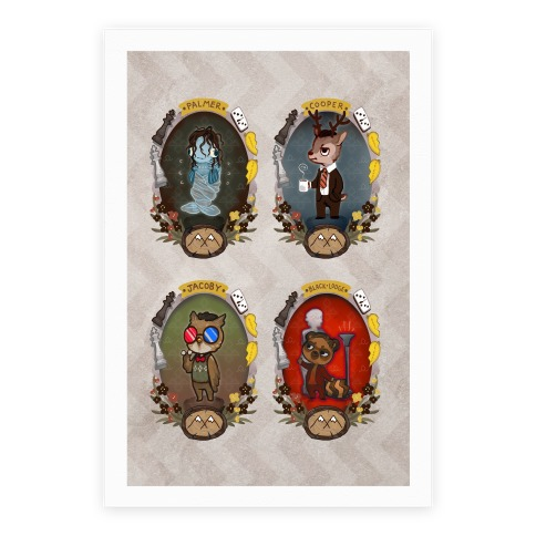 Twin Peaks Characters Canvas Print