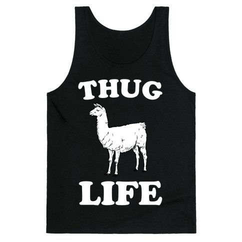 Thug Life Llama Tank Top