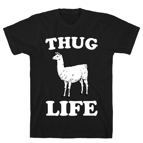 Thug Life Llama Mens T-Shirt