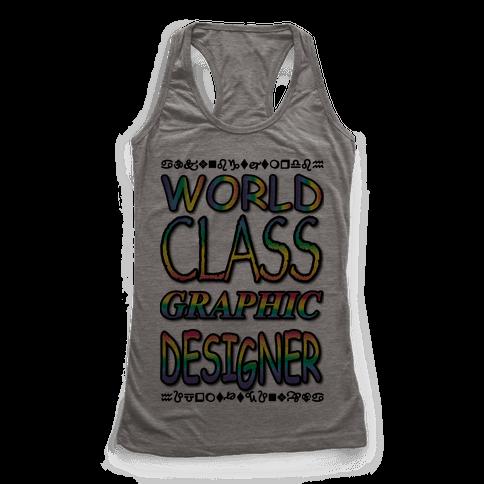 World Class Designer Racerback Tank Top