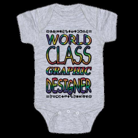 World Class Designer Baby Onesy
