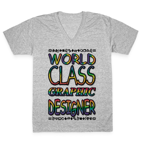 World Class Designer V-Neck Tee Shirt