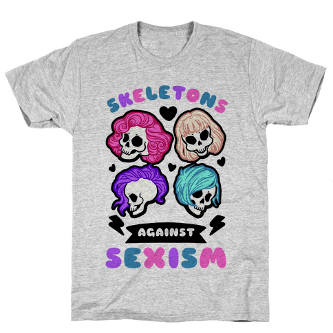 Skeletons Against Sexism Mens T-Shirt
