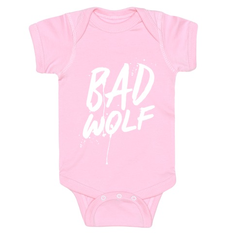 Doctor Who Bad Wolf Baby Onesy