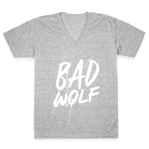 Doctor Who Bad Wolf V-Neck Tee Shirt