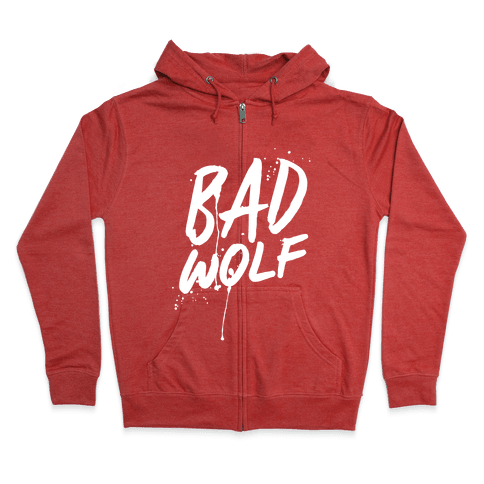 Doctor Who Bad Wolf Zip Hoodie