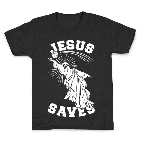 Jesus Saves (Volleyball) Kids T-Shirt