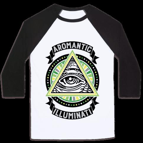 Aromantic Illuminati Baseball Tee