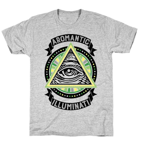 Aromantic Illuminati Mens T-Shirt