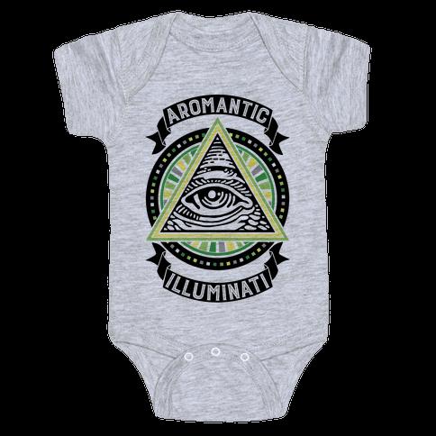Aromantic Illuminati Baby Onesy