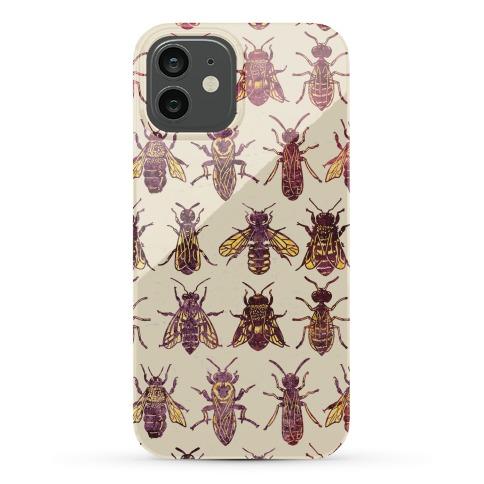 Bee Species Pattern Phone Case