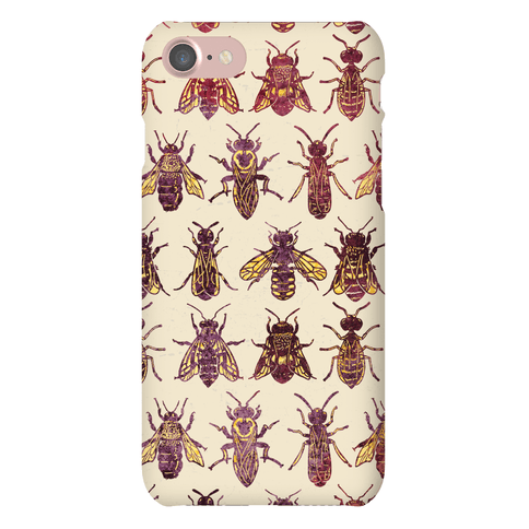 Bee Species Pattern Phone Case