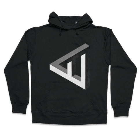 Triangle Optical Illusion Hooded Sweatshirt