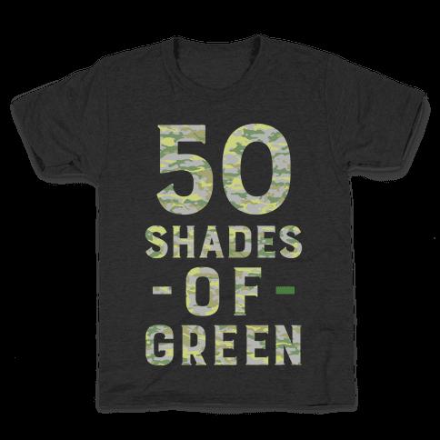 50 Shades of Green Kids T-Shirt